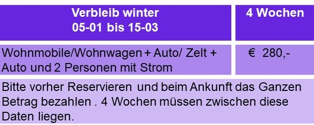 Prijslijst du 4 weken winter2021